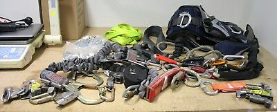 Miller Worker Safety Body Harness & Lanyard - Fall Prevention Ropes + Carabiners