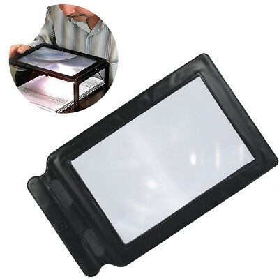 Full Page 3x Magnifier Sheet Large Magnifying Glass Book Reading Aid Len es
