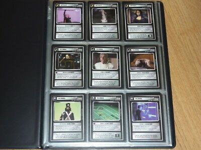 Star Trek CCG Q-Continuum Complete Set of 121 Cards in Folder - BB - NM-MT to MT