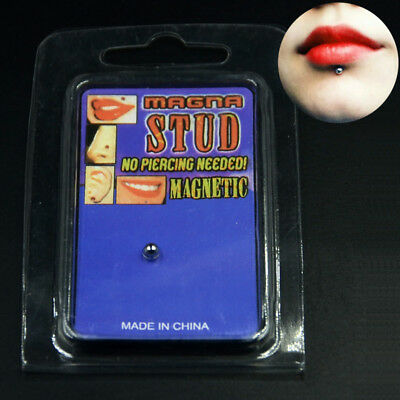 Magnetic Fake Cheater Non Pierced Nose Lip Labret Piercing Stud Ear Plugs Labret