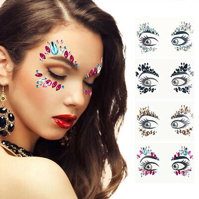 Festival Face & Body Gems Festival Facial Jewels Glitter Rhinestone Stickers