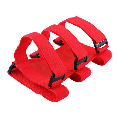 Universal Car Interior Roll Bar Fire Extinguisher Fixed Holder Straps Red