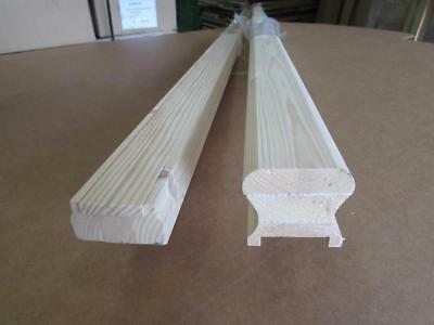 Pine or Oak Stair HDR Handrail & Base Rail Grooved or Un-Grooved Select Options