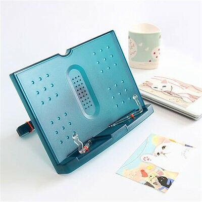 Adjustable Tilt Book Reading Stand Holder Blue Book Document Magazine Ipad Read