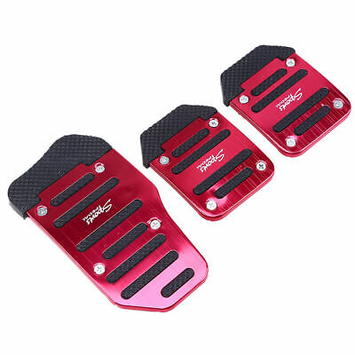 3pcs Set Universal Non Slip Foot Pedals Pad Cover for Manual Car Racing Red
