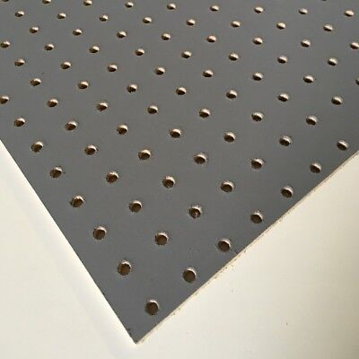 Painted Slate / Steel Grey Wooden Pegboard / Display Board 1200 x 300 x 6mm