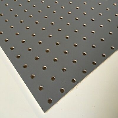 Painted Slate / Steel Grey Wooden Pegboard / Display Board 600 x 600 x 6mm