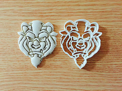 Beauty And The Beast Plastic Cookie Cutter Fondant Cake Decorating Cupcake