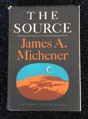 THE SOURCE by James A. Michener 1965 HCDJ First Printing 1st EDITION