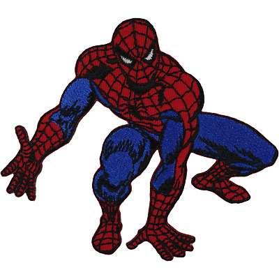 Spiderman Patch Iron Sew On T Shirt Bag Fancy Dress Superhero Embroidered Badge