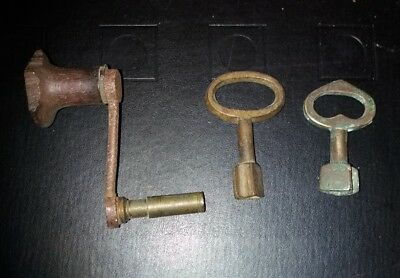 Three Big Antique Clock Keys