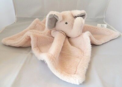 Pottery Barn Kids Monique Lhuillier Pink Elephant Thumbie Security Baby Blanket