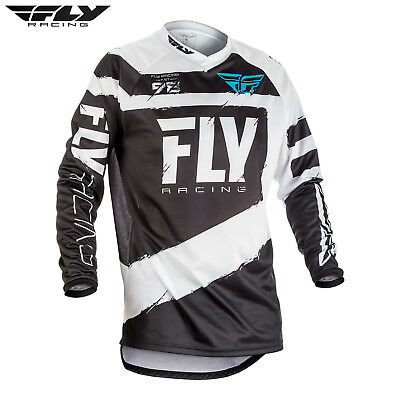 2018 Fly Racing F-16 F16 Motocross MX Kids Race Jersey Black White Youth  XLarge