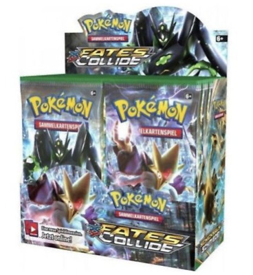 Pokemon, Fates Collide - 4x Booster packs - factory sealed - Random