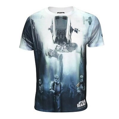 STAR WARS  T-Shirt - Rogue One - AT-ST with Stormtrooper - M - NEU