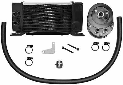 Jagg 750-2380 Horizontal 10 Row Oil Cooler - Low Mount - Chrome