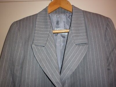 Vintage 4 Piece Women's Pinstripe Suit Size 12/14 Good Condition