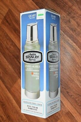 1980 NEW Aladdins Stanley Thermos Quart 0.95 Liter Unbreakable Steel Vintage old