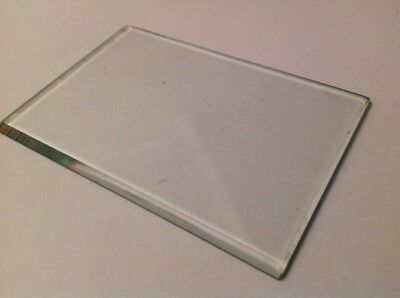 Bevelled Carriage Clock Glass Bevelled Rectangle  100mm 70mm