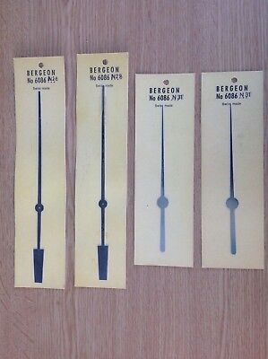Bergeon Clock hands no 6086 2xn28 180mm and 2xn31 135mm  clockmakers spare parts