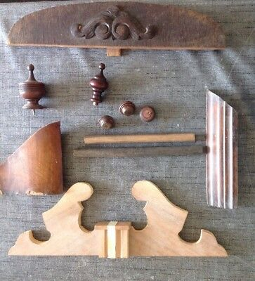 Collection Wood Clock Part Feet Mouldings  Ex Clockmakers  Spare Parts