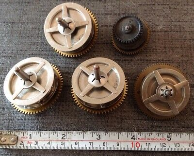Antique Clock Drive Cogs For Weight Chain Clockmakers Selection Spare Parts
