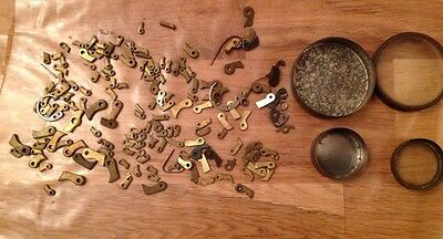 Antique Clock Clicks And Rivets Clockmakers Selection Ex Spare Chest