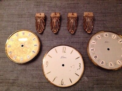 Collection Kern Clock Faces And Faux Brass Clock Feet
