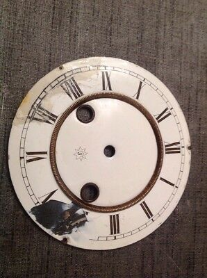 Antique Junghans Clock Enamel Dial Center 85mm Currently In Outer Dial 142mm