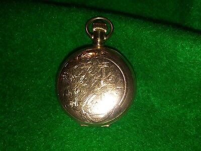 Antique Victorian GOLD FILL FANCY WATCH CASE Pill Snuff Box Vintage Closes tight