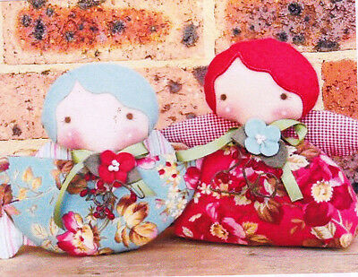 Clearance- PATTERN - Angel Greetings 2 - cute little cloth doll PATTERN updated
