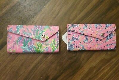 Lilly Pulitzer New With Tags 2 Sunglass Cases In Coco Coral Crab & Fan Sea Pants