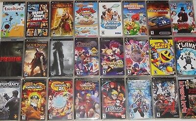 Psp games with manuals and umd movies (pick from list) playstation.