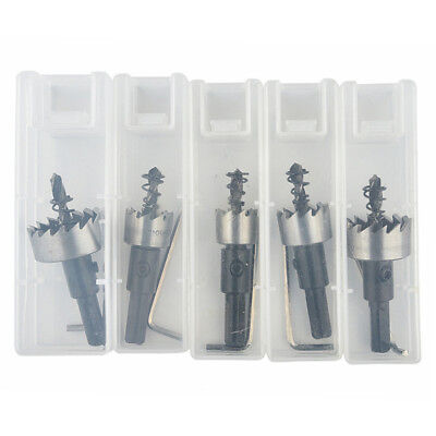 5x HSS Drill Bit Hole Saw Set Stainless Steel Metal Alloy 16-30mm High Quality C