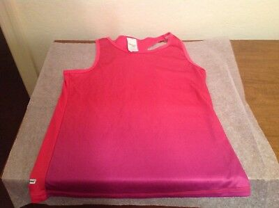 Danskin Freestyle Girls Dri-More Pink/Orchid Racerback Tank Top. L 10/12 Mint