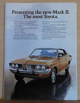 1972 magazine ad for Toyota - Mark II, Top of the Toyota Line