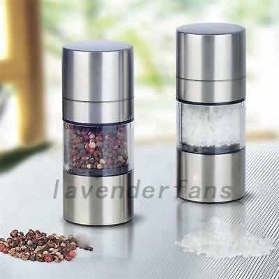 Silver Stainless Steel Manual Salt and Pepper Mill Grinder For Cooking Prepare
