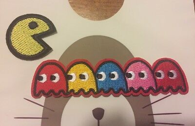 Pac-Man Embroidered Iron On Patch, sewing patch, pac man patch