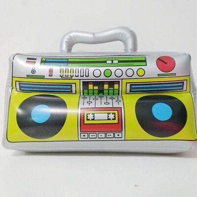 Inflatable Radio Simulation Boom Box Kids Child Fancy Dress Party Stage Prop Toy
