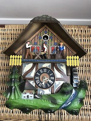 CUCKOO CLOCK Vintage German Black Forest E.Schmeckenbecher Ex Working Condition
