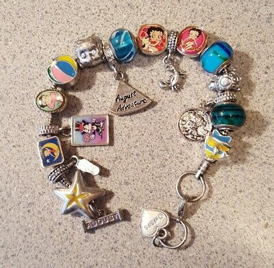 Willabee & Ward BETTY BOOP Charming Year Monthly Charm Bracelet AUGUST