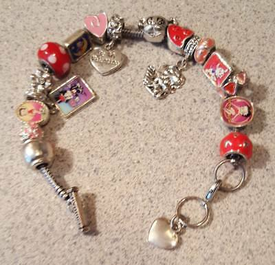 Willabee & Ward BETTY BOOP Charming Year Monthly Charm Bracelet FEBRUARY
