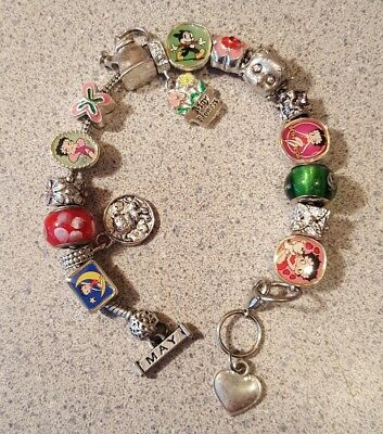 Willabee & Ward BETTY BOOP Charming Year Monthly Charm Bracelet MAY
