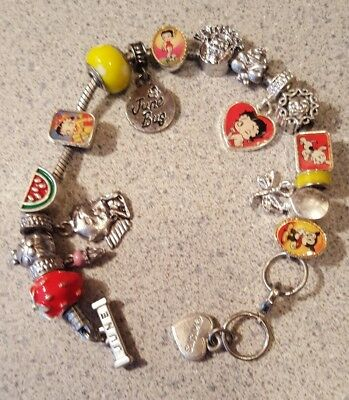 Willabee & Ward BETTY BOOP Charming Year Monthly Charm Bracelet JUNE
