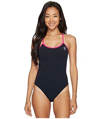 ff31e319e2975 TYR Solid Trinityfit One-Piece Swimsuit Women s size 32 Black Pink  6221