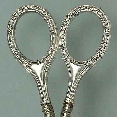 Antique Silver Handled Embroidery Scissors * Germany * Circa 1890s