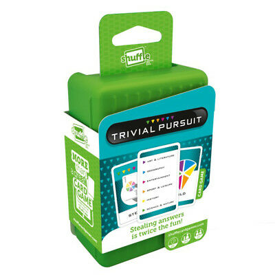 Shuffle Trivial Pursuit Card Game NEW