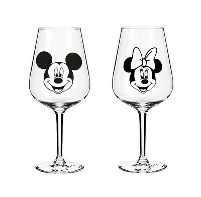 Mickey Mouse Minnie Mouse Disney Faces Vinyl Decal Stickers Wine Glass Mug