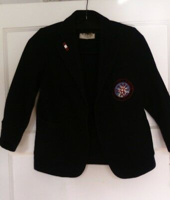 vintage retro child's blazer school navy Sydenham high school age 8 ish