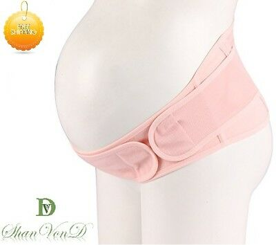 Pregnancy Support Belt Maternity Abdomen Elastic Band Pregnancy Pelvic Pink Gift